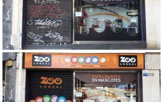 Imagen de graffiti en local comercial