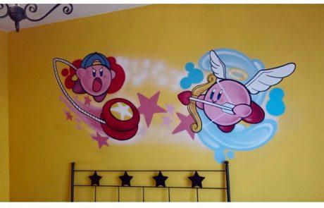 Dibujo de Graffiti en Habitacion juvenil