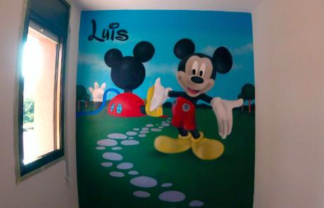 Graffiti Mickey Mouse Habitacion