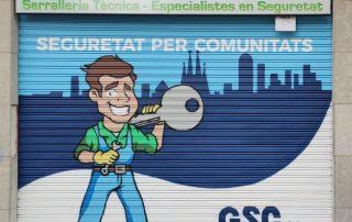 Graffiti en persiana cerrajeria