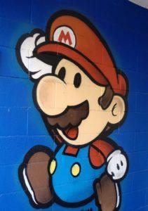 Graffiti Mario Bros en Habitación infantil