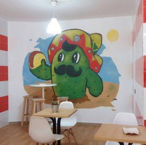 Graffiti en Restaurante Mexicano