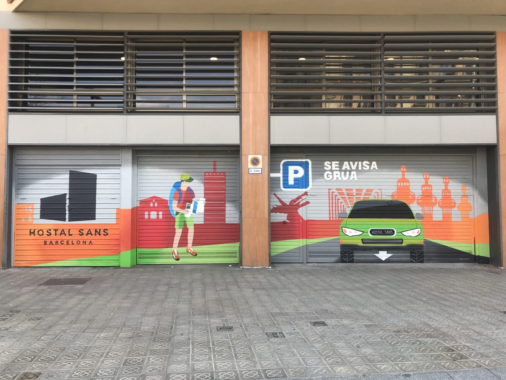 Graffiti Puertas de Parking