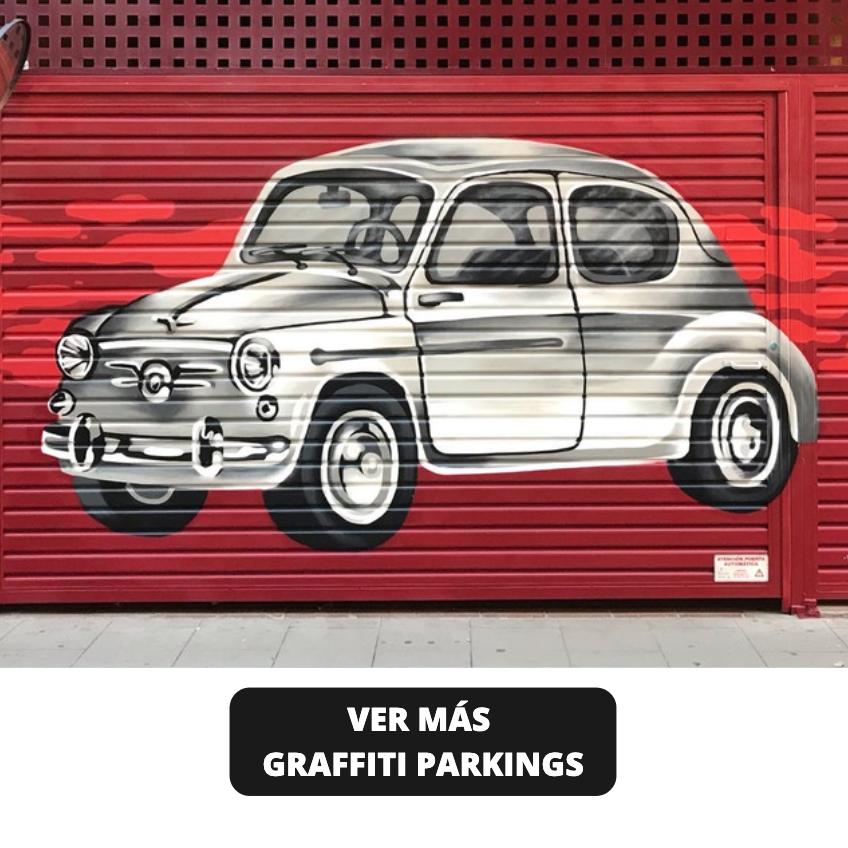 Graffiti Artistico Coche Parking