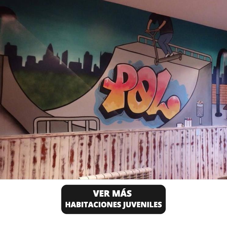 Decoracion habitaciones juveniles con graffiti
