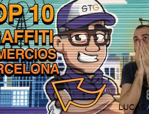 Los mejores graffitis en persianas de comercios en Barcelona
