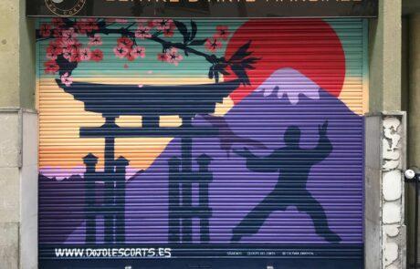 Graffiti escuela karate