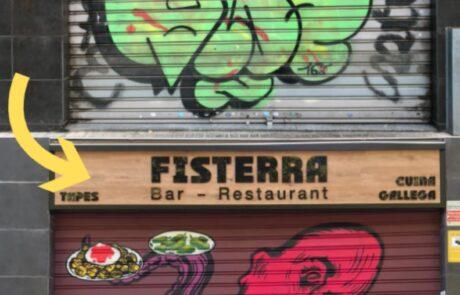 Graffiti restaurante gallego