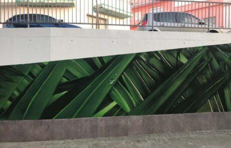 Mural de graffiti paisaje Selva