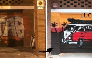 graffiti parking Barcelona